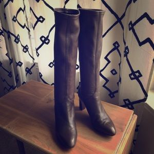Cole Haan Nike Air brown pull-on knee high boot